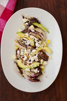 grilled radicchio salad with avocado, almonds + lemon-dijon vinaigrette | lucky star anise