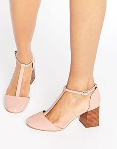 Buy Hot Pink Asos Heeled shoe for woman at best price. Compare Shoes prices from online stores like Asos - Wossel Global Asos Shoes, Suede Shoes, Shoe Boots, Shoes Heels, Leather Shoes, Patent Leather, High Heels, T Strap Shoes, Ankle Strap Heels