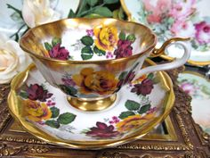 Royal Albert Avon Shape Tea Cup and Saucer Treasure Chest Pattern | eBay