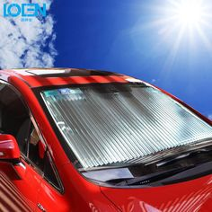 160*60cm Universal Car Window Sunshade Retractable Foldable Windshield Sunshade Cover Shield Anti-UV Curtain White Free Shipping