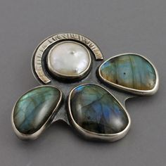 Labradorite pendant and brooch two in one.