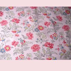 Very pretty floral designed vintage fabric