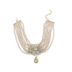 """Heidi Daus """"Reigning Beauty"""" 7-Strand Crystal Drop Necklace 