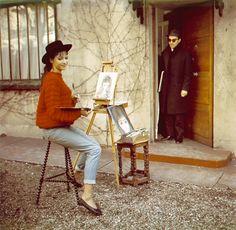 Anna Karina et Godard.