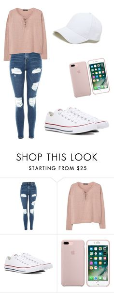 """11"" by sacirao ❤ liked on Polyvore featuring Topshop, MANGO, Converse and Sole Society"