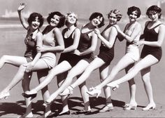 Bathing Beauties ♥ 1930's ... these girls have a few years on us, but my friends and I still feel the same attitude.