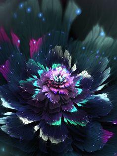 Pandora by tatasz Iphone 6 Wallpaper Backgrounds, Flower Phone Wallpaper, Beautiful Flowers Wallpapers, Pretty Wallpapers, Pretty Pictures, Art Pictures, Galaxy Painting, Zen Art, Fractal Art