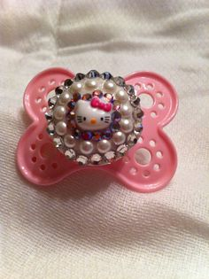 Hello Kitty Bling Pacifier Pink