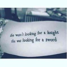 To Celebrate World Poetry Day, Here Are 10 Perfectly Poetic Tattoos This is probably a saying that Atalanta could agree with. She was a Virgin warrior who refused every marriage offer. Gesundheits Tattoo, Paar Tattoo, Tattoo Fonts, Phrase Tattoos, Tiny Tattoo, Sword Tattoo, Lotus Tattoo, Future Tattoos, New Tattoos