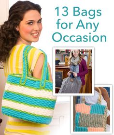 13 Free Knit & Crochet Bag Patterns for Any Occasion