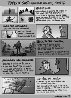 Drawing Tips Tuesday Tips - Types of Shots (And What They Say) part More tips and explanations on what different types of camera shots and angles are used for. Animation Storyboard, Animation Reference, Art Reference, Drawing Techniques, Drawing Tips, Camera Shots And Angles, Camera Angle, Types Of Shots, Comic Tutorial