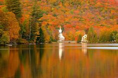 Silver Lake - Barnard, Vermont John H. Knox - Photographer I have long coveted this spot at Silver Lake with the church steeple reflecting in the lake. This photo was taken this past Wednesday illustrating the excellent foliage in Barnard.
