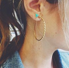 #MondayMuse: If you have a double piercing, try pairing a fun stud with a hoop. Be sure to wear your hair back so everyone can check out your look!
