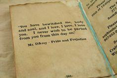 Wedding Invitation Set of 20 Vintage Book Invitation, Bridal Shower, Anniversary, Pride and Prejudice, Anne of Green Gables