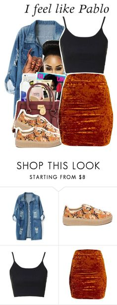 """""""4-16-2017 9:25 PM EST"""" by kaydabae4life ❤ liked on Polyvore featuring Chicnova Fashion, GET LOST, Puma and Topshop"""