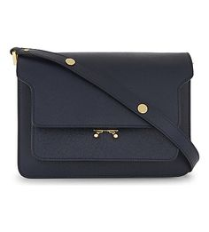 MARNI - Trunk medium leather shoulder bag | Selfridges.com