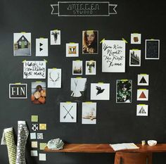 Chalkboard On Ideas : Chalkboard On The Wall With Hanging Wood Table Image id 1621 - GiesenDesign