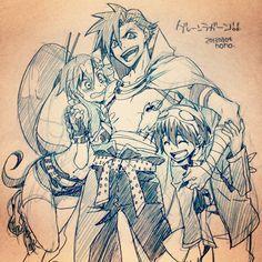 Kamina, Simon, and Yoko
