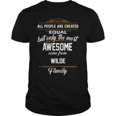 WILDE Name tee Shirts