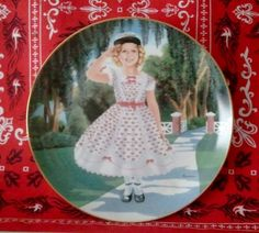 THE DANBURY MINT / SHIRLEY TEMPLE COLLECTOR PLATE / THE LITTLEST REBEL