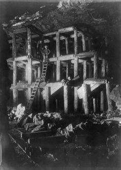 Homestake gold mine, Lead, S. Dak. flash-light photographs of the underground workings. c1908. William B. Perkins Jr., photographer -loc.gov
