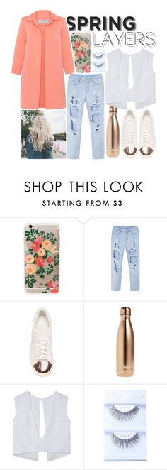 """""""Wardrobe Basics : Spring Jacket : Spring Layers"""" by aliiiiison ❤ liked on Polyvore featuring Rifle Paper Co, adidas, S'well and D.Exterior"""