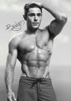 The black and white Trends International Baywatch - Matt Poster is a great pick for a Zac Efron fan, especially those who love his role in Baywatch. How To Look Handsome, Handsome Man, Style Outfits, Hommes Sexy, Shirtless Men, Hairy Men, Good Looking Men, Muscle Men, Vintage Man