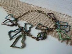 Srdiečkový patinovaný s ružičkou / Martinuska - SAShE. Handmade Bracelets, Charmed, Jewelry, Fashion, Moda, Jewlery, Jewerly, Fashion Styles, Schmuck