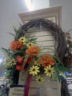 Custom designed #fall wreaths are available at Stauffers of Kissel Hill #Garden Centers. www.skh.com.