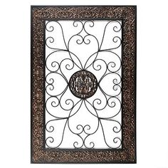 Embossed Scroll Plaque   Kirkland's:    I know a few empty walls that could benefit from this piece of decor...