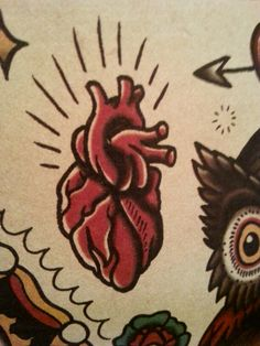Traditional anatomical heart by Megamunden