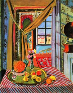 """dappledwithshadow: """"Interior at Nice Henri Matisse - 1924 Private collection Painting - oil on canvas Height: cm in.) This is my favorite Matisse. Henri Matisse, Matisse Kunst, Matisse Art, Matisse Paintings, Picasso Paintings, Matisse Pinturas, Katharine Ross, Post Impressionism, Impressionist"""