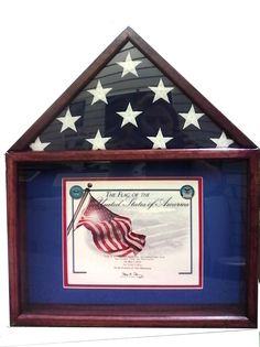 The Capitol Burial Flag Case & Memorabilia Display is made in the USA for smaller 3' x 5' flags. This military memorabilia case is crafted from solid Oak and stained in your choice of a light oak, medium walnut or dark cherry stain. This military flag display case is the perfect way to honor a veteran service member, or someone who is currently serving our Nation,with timeless class.