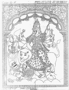 Thanks for the website reference Mural Painting, Mural Art, Outline Pictures, Indian Goddess, Tanjore Painting, India Culture, Outline Drawings, Traditional Paintings, Paint Designs
