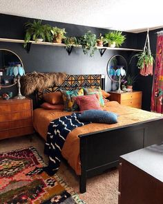 50 Bedroom Decor Fascinating Ideas on a Budget You Must See it Bohemian Bedroom . - 50 Bedroom Decor Fascinating Ideas on a Budget You Must See it Bohemian Bedroom bedroom Budget deco - Bohemian Bedroom Decor, Hippy Bedroom, Gypsy Home Decor, Bohemian Interior Design, Bohemian Bedding, Boho Bed Room, Eclectic Bedroom Decor, Bohemian Bedroom Diy, Orange Bedroom Decor