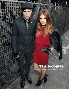 Jamie Burke in The Kooples Campaign.