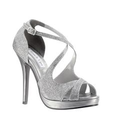 4c7b2430c692 Dana from touch ups is a fun 3 inch platform sandal with cris crossing  straps and an adjustable buckle. available in champagne or silver