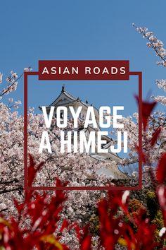 Le château d'Himeji au Japon est construit en bois, et est classé au patrimoine mondial de l'UNESCO ! Destinations, Unesco, Roads, Holiday Decor, Artwork, Poster, Wooden Castle, Travel, Work Of Art