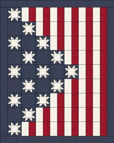 Quilt Jubilee by Lisa Sutherland - Patriotic Quilts, Quilt of Valor Barn Quilt Designs, Barn Quilt Patterns, Quilting Designs, Quilting Ideas, Quilting Patterns, Tatting Patterns, Canvas Patterns, Sewing Patterns, Blue Quilts