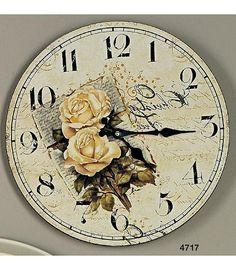 Mit unseren zeitlosen romantischen Uhren kombinieren Sie stilsicher das Nützliche mit dem Angenehmen. Das Rosen Motiv macht die Wanduhr zu einem dekorativen Stück mit hohem Schauwert. Die Uhr im Vintage Look ist aus Blech gefertigt und hat die Maße (Ø/H): 34/0,5 cm.   Artikeldetails:  Dekorative Uhr, Im Vintage Look, Mit tollem Motiv,  Maße:  Maße (Ø/H): 34/0,5 cm,  Material/Qualität:  Blech,  ...