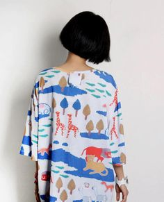 #beauty #clothes #outfit #woman #spring #oversized #dress #animals #colors