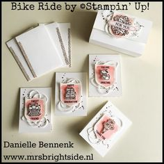 Mini notecardset with Bike Ride stamp set made for On Stage Live. Tutorial in English and Dutch