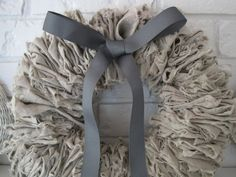 {Beautiful Nest}: More linen love: A Linen Wreath