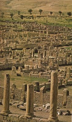 Ruins of Timgad (Algeria, 1973). http://www.travelbrochures.org/204/africa/tour-the-ultimate-algeria: