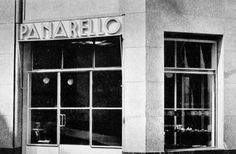 mario asnago e claudio vender - pasticceria panarello, via cantù, milano, 1935
