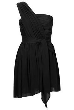 **One Shoulder Chiffon Dress by Kate Moss for Topshop- topshop.com