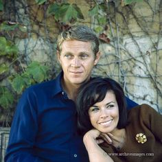 Steve McQueen and wife Neile! Steeve Mac Queen, Steve Mcqueen Style, Steven Mcqueen, American Legend, Famous Couples, Mc Queen, Brigitte Bardot, Hollywood Stars, American Actors