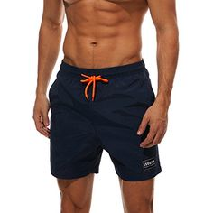 Men's Performance Solid Shorts With Pocket - a Navy - Clothing, Active, Active Shorts Shorts Sport Shorts, Swim Shorts, Shorts Style, Surfing Tips, Mens Clothing Styles, Men's Clothing, Mens Activewear, Trends, Shorts With Pockets