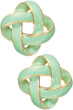 Dottie Couture Boutique - Knot Studs- Mint , $12.00