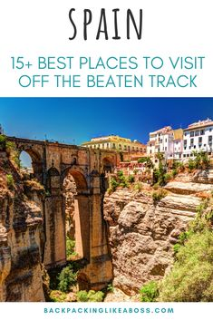 Cool places to visit in Spain - 15  awesome place to visit on your Spain trip. Forget touristy spots, check out these off the beaten track places and get a unique Spanish experience on your holiday. Perfect for a Spain road trip exploring the country. Non-tourist Spain | Spain off the beaten path | Places to visit in Spain | #spain Europe Destinations, Europe Travel Tips, European Travel, Travel Guides, Travelling Europe, Travel List, Travel Deals, Traveling, Spain Places To Visit
